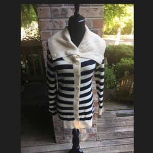Banana republic tunic striped sweater